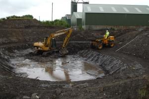 Dunniflats 1 pond excavation