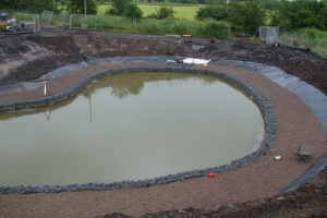 Dunniflats 2 pond construction